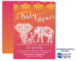 elephant baby shower invitation moroccan baby shower golden