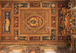 Baroque Ceiling by Rome Italy Famous Papal Arch Basilica Of St John Lateran