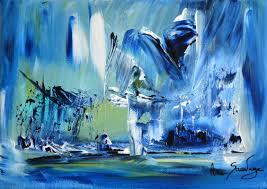 Tableau Abstrait Rouge Et Gris by Tableau Abstrait Moderne Bleu Tableau Pinterest Tableau