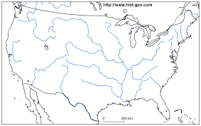 Map Of The World Blank by Blank Map Of The Main Rivers Of The Usa