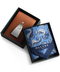 insignia gift set tan leather with teal and hippocampus dalvey