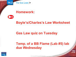 homework boyle u0027s charles u0027s law worksheet gas law quiz on tuesday