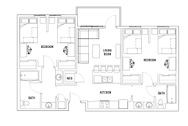 floor plans for bathrooms floor plans 2125 franklin student housing eugene or