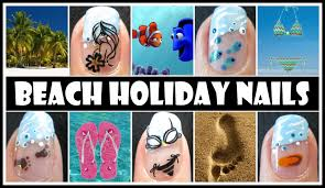 beach nail art designs summer spring break ocean holiday nail