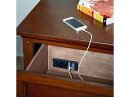 standard furniture cooperstown casual 2 drawer nightstand with usb