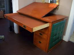 Drafting Table And Desk Vintage Cherry Desk Mid Century Modern Drafting Table Writing