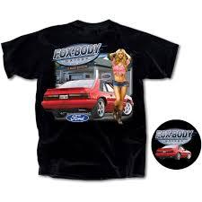 Black Fox Mustang Apparel Gifts Mustang T Shirt Short Black Fox Body Garage