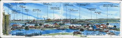 Pensacola Map Urban Sketchers Texas Pensacola Florida Looking North From