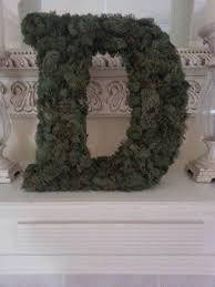 monogram wreath how to make a moss covered monogram wreath feltmagnet