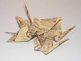 vintage origami wedding crane vintage crane for wedding wedding