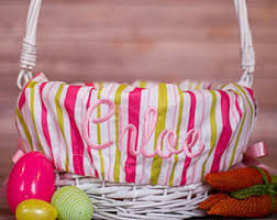 personalized basket easter basket liner etsy