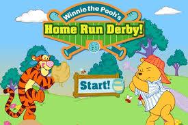 winnie pooh run derby game baseball games games loon