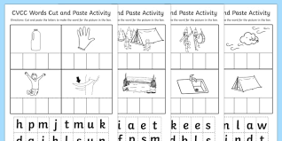 cut and paste worksheet cvcc cut paste worksheet work