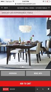 west elm expandable table west elm angled leg expandable table furniture in brooklyn ny