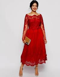 plus size red lace cocktail dress naf dresses