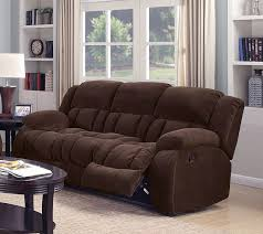 Chenille Reclining Sofa Reclining Sofa In Brown Chenille By Coaster 601924