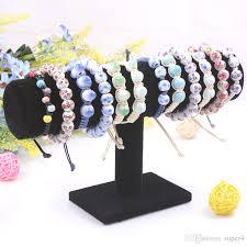 headband stand 2018 new design velvet single tier stand bracelet holder fabric