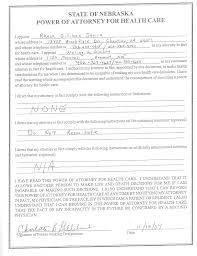 Durable Power Of Attorney Nebraska by Descendants Of Jesse Collins And Charlotte Victoria Clark
