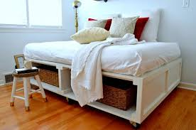 Make Platform Bed Frame Storage by Diy Platform Bed With Storage Hometalk