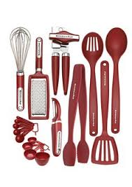 Red Kitchen Utensil Set - typhoon duo wooden silicone cooking utensil serving slotted pasta