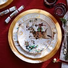 christmas dishes twas the before christmas dinner plates santa williams sonoma