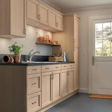 home depot all wood kitchen cabinets easthaven shaker assembled 18x84x24 63 in frameless pantry utility cabinet in unfinished beech