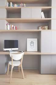 bureau sur meuble bibliothèque pour bureau chambre idee bureau plus idees