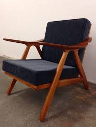 New Mid Century Modern Furniture by Danish Modern Style Teak Chair New Beautiful Wood Lounge