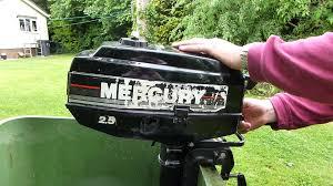 mercury 2 5hp outboard engine 2 stroke start youtube