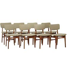 mid century danish dining chairs teak set of eight gustav