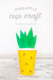 pineapple cup craft cup crafts paper cup crafts and cups