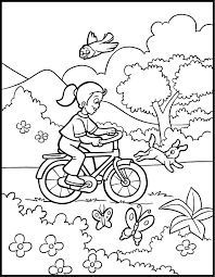 spring color printable coloring pages kids