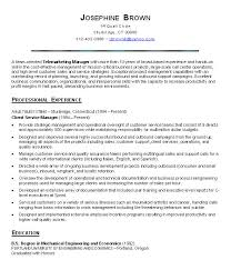 resume for customer service customer service resume objective project scope template