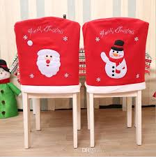 christmas chair back covers santa claus snowman chair cover christmas dinner table