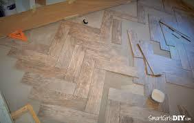 How To Tile A Floor How To Tile A Herringbone Floor Family Room 10