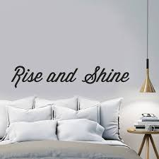no headboard no problem feioi rise and shine wall sticker by oakdene designs 12 00 on notonthehighstreet com