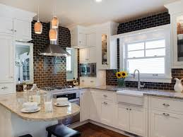 What Color Should I Paint My Kitchen With White Cabinets by Tile For Small Kitchens Pictures Ideas U0026 Tips From Hgtv Hgtv