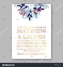 floral wedding invitation winter christmas wreath stock vector
