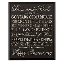 personalized wedding plaque personalized 60th wedding anniversary gift for parents