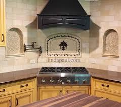 tile medallions for kitchen backsplash fleur de lis mosaic and metal arched medallion backsplash