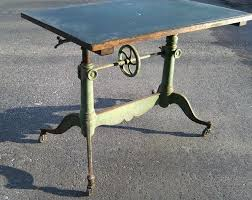 Drafting Table Base 19th Century Drafting Table With Original Paint C1880