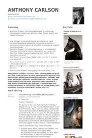 Freelance Photographer Resume Examples Photographer Resume Sample Director Of Photography Resume Samples