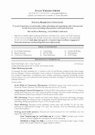 resume exles marketing sle marketing resume fresh 50 beautiful graph manager