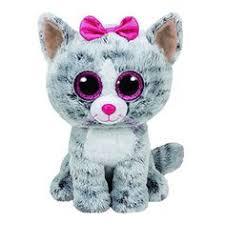 original ty beanie boos big eyes plush toy doll colorful purple