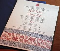 south asian wedding invitations indian letterpress wedding card padma invitations by ajalon