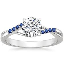 sapphire accent engagement rings sapphire engagement ring trends brilliant earth