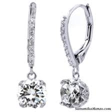 leverback diamond earrings 2 7ct cut pave dangle drop cz diamond leverback earrings