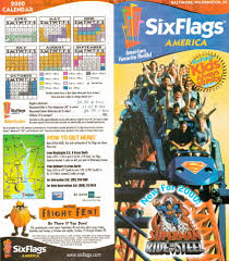 Six Flags In America Newsplusnotes From The Vault Six Flags America 2000 Brochure