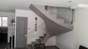 escalier garde corps verre garde corps inox et verre cube system fabrication sur mesure et