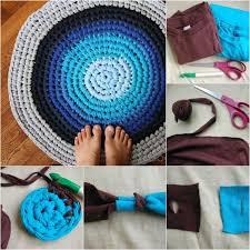 Diy Rug Wonderful Diy Crochet Rag Rug From Old T Shirts
